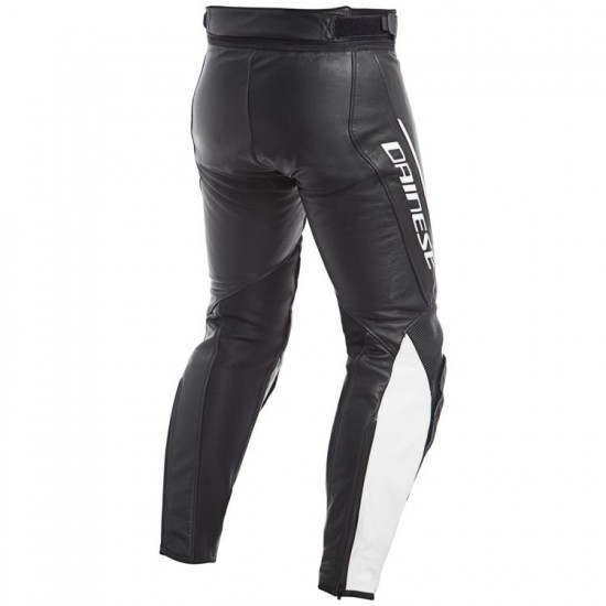 Dainese Perforated Leather Pants - Assen Black White