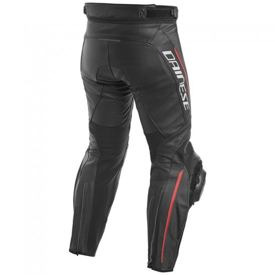 Dainese Perforated Leather Pants - Delta 3 Black Black Red