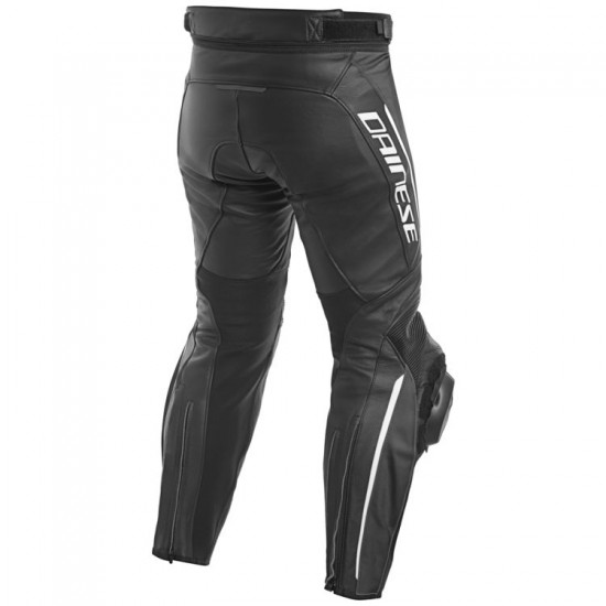 Dainese Perforated Leather Pants - Delta 3 Black Black White