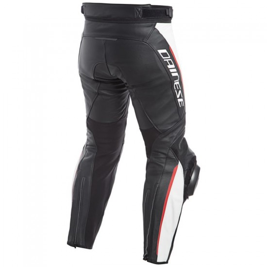 Dainese Perforated Leather Pants - Delta 3 Black White Red