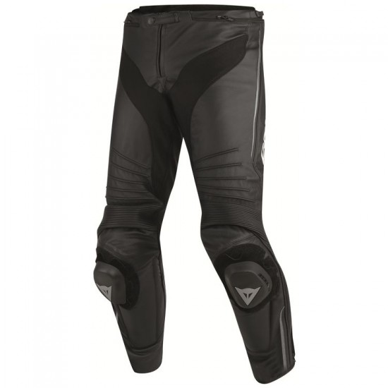 Dainese Perforated Leather Pants - Misano Black White