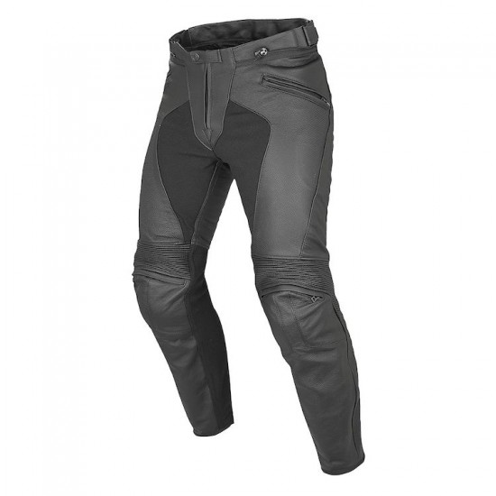 Dainese Perforated Leather Pants - Pony C2 Black