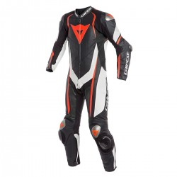 Dainese Kyalami Perforated 1PC Leather Black White Red Suit