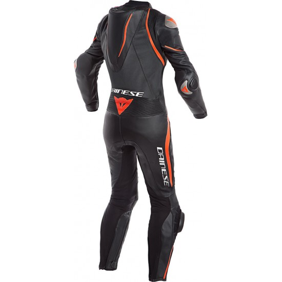Dainese Laguna Seca 4 Perforated 1PC Lady Leather Black Black Fluo-Red Suit
