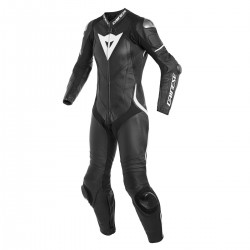 Dainese Laguna Seca 4 Perforated 1PC Lady Leather Black Black White Suit