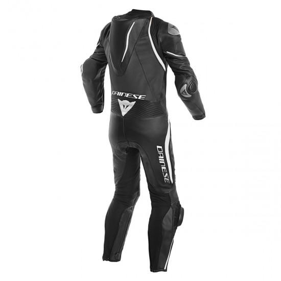 Dainese Laguna Seca 4 Perforated 1PC Black Black White Leather Suit