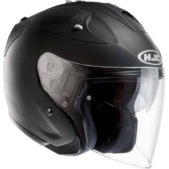 HJC FG-JET Rubberized Black Open Face Helmet