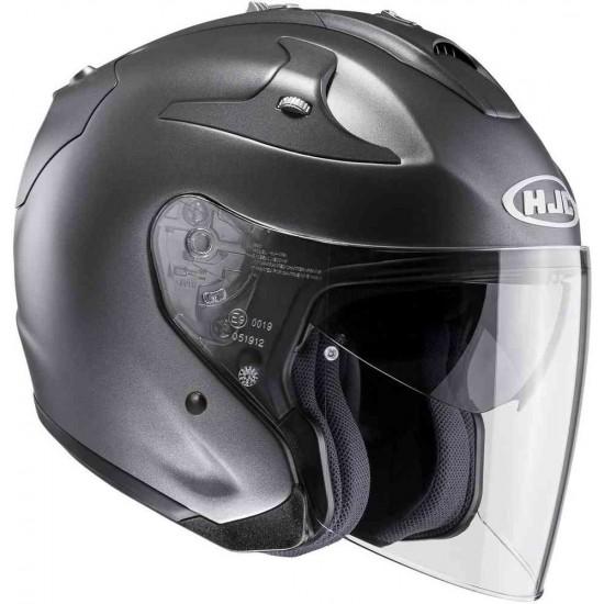 HJC FG-JET Semi Flat Titanium Open Face Helmet