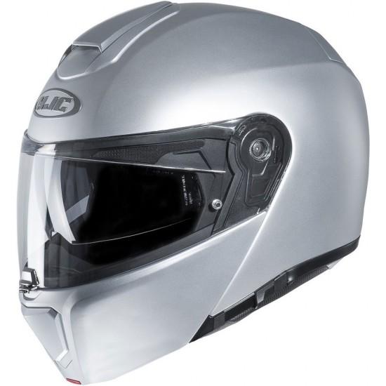 HJC RPHA 90S Semi Flat Silver Modular Helmet