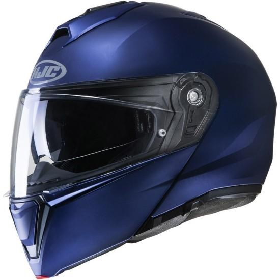 HJC I90 Semi Flat Metallic Blue Modular Helmet