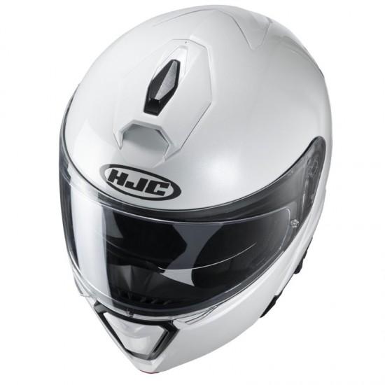 HJC I90 Pearl White Modular Helmet