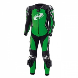 Held Full Speed 1 Piece Leather Black Green Suit