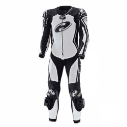 Held Full Speed 1 Piece Leather White Black Suit