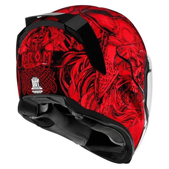 Icon Airflite Krom Red Full Face Helmet