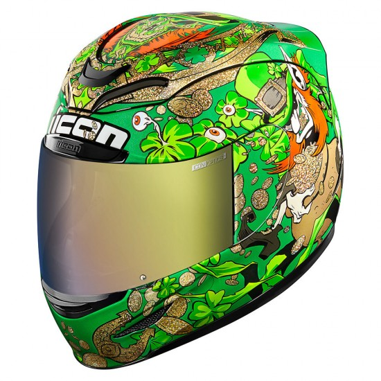 Icon Airmada Lepricon Green Full Face Helmet