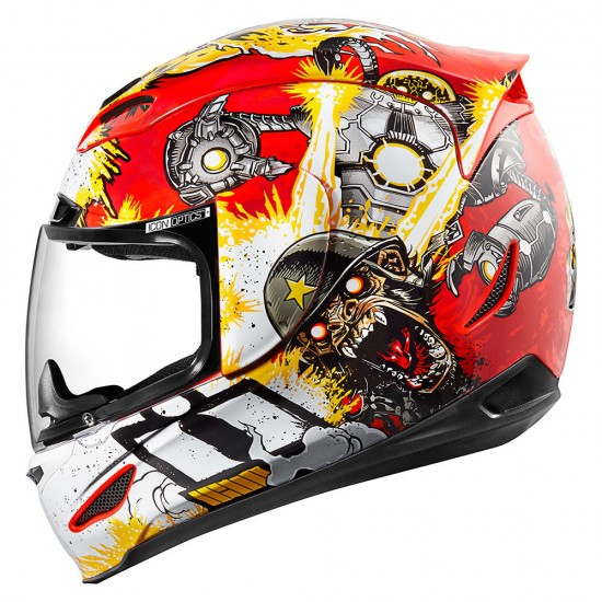 Icon Airmada Monkey Business Red Full Face Helmet