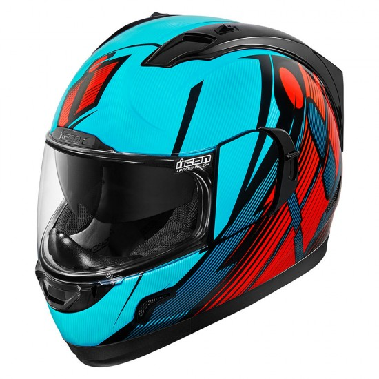 Icon Alliance GT Primary Blue Red Full Face Helmet