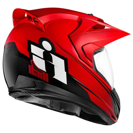 Icon Variant Double Stack Red Full Face Helmet