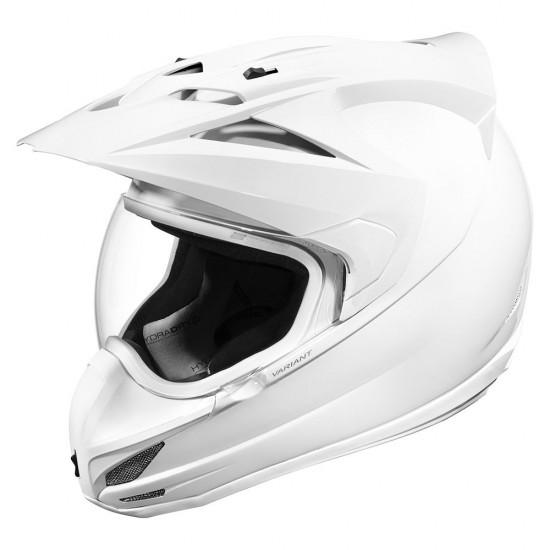 Icon Variant Gloss White Full Face Helmet
