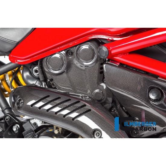 Ilmberger Carbon Cam Belt Cover Vertical Glossy Ducati Monster 821 / 1200 / 1200 S MPN - ZAV.013.D12MG.K