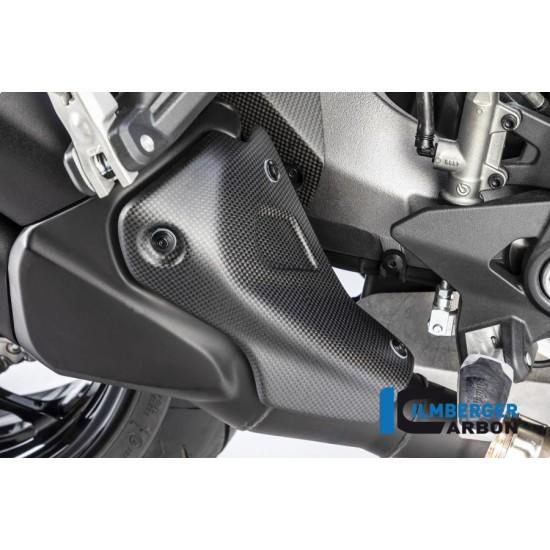 Ilmberger Carbon Exhaust Cover Matt Ducati Monster 1200 MPN - AHS.110.DM17M.K