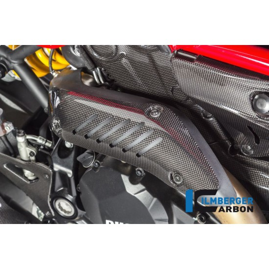 Ilmberger Carbon Exhaust Protection Gloss Ducati Monster 821 / 1200 / 1200 S MPN - AHK.004.D12MG.K