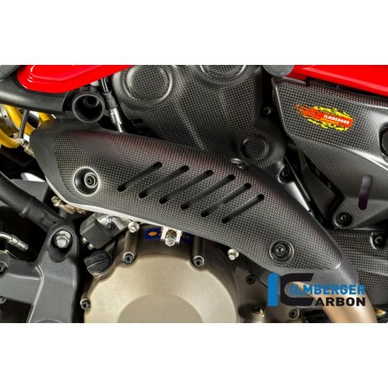 Ilmberger Carbon Exhaust Protection Matt Ducati Monster 821 / 1200 / 1200 S MPN - AHK.104.D12MM.K