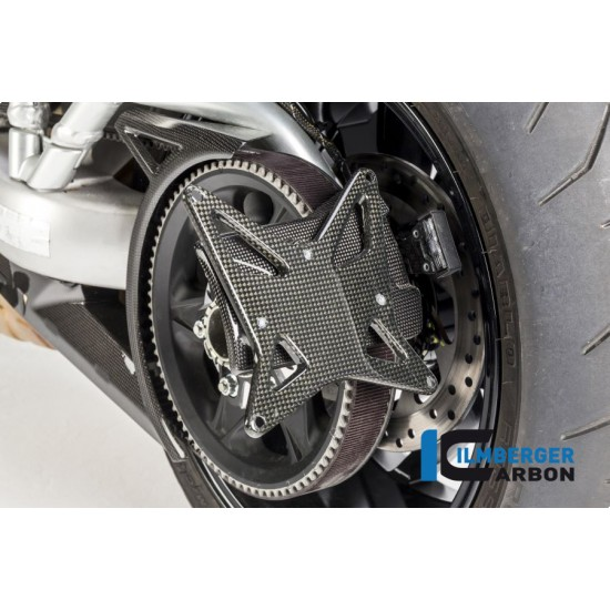 Ilmberger Carbon License Plate Incl.belt Guard Gloss Ducati XDiavel / XDiavel S MPN - NHO.002.XD16G.K