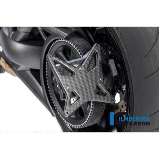 Ilmberger Carbon License Plate Incl.belt Guard Matt Ducati XDiavel / XDiavel S MPN - NHO.102.XD16M.K