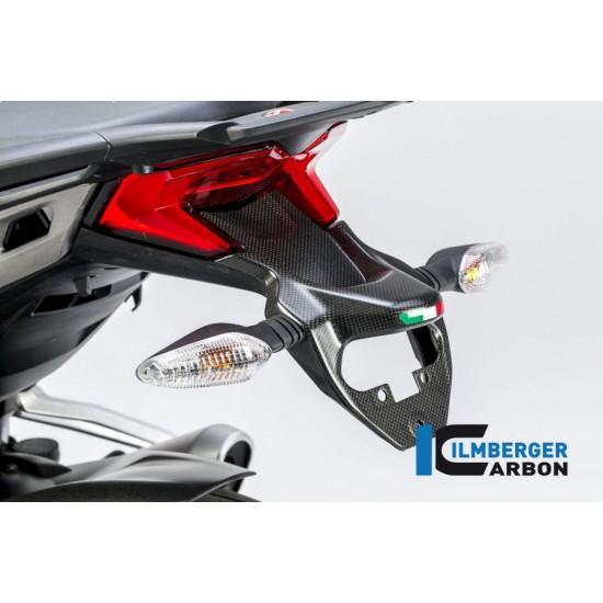 Ilmberger Carbon Number plate Holder Matt Ducati Multistrada 1200 Enduro MPN - NHO.106.D15MM.K