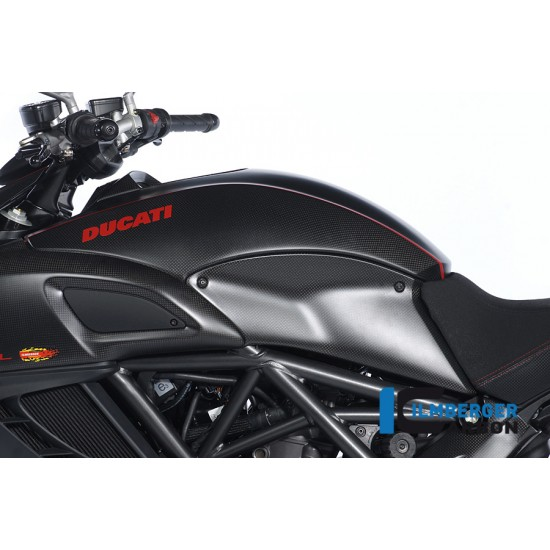 Ilmberger Carbon Tank Panel Left Ducati Diavel MPN - SDL.011.DIAVE.K