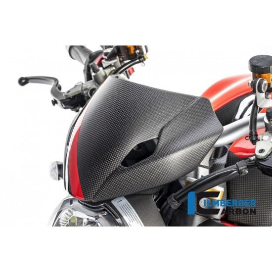 Ilmberger Carbon Windshield Incl Holder Matt Ducati Monster 1200 MPN - VEO.102.DM17M.K