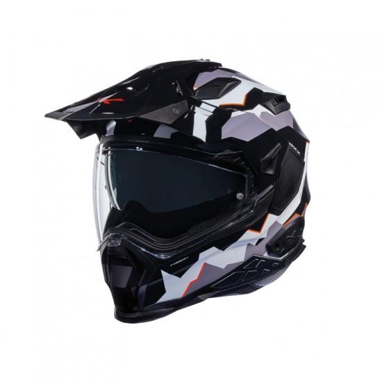 Nexx X.Wed 2 Hill End Black White Orange Full Face Helmet