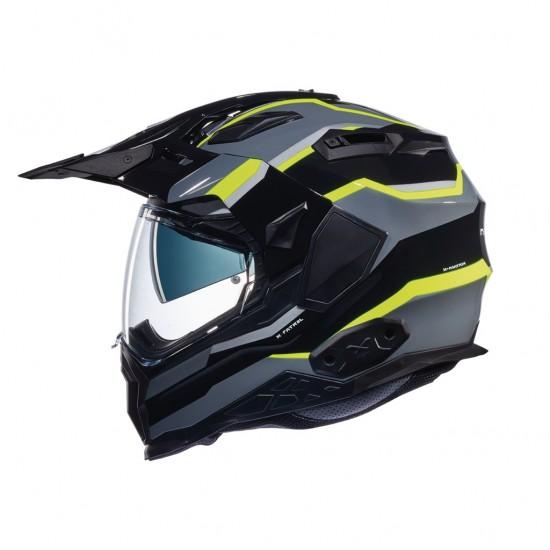 Nexx X.Wed 2 X-Patrol Black Titanium Neon Yellow Full Face Helmet