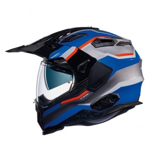 Nexx X.Wed 2 X-Patrol Titanium Blue Red Full Face Helmet