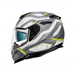 Nexx SX.100 I-Flux White Neon Yellow Matt Full Face Helmet