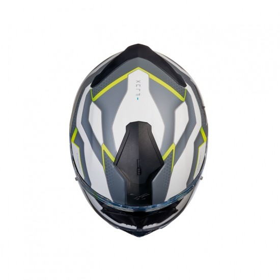 Nexx SX.100 I-Flux White Neon Yellow Matt Full Face Helmet