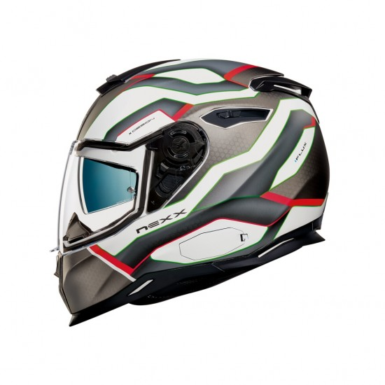 Nexx SX.100 I-Flux White Pink Matt Full Face Helmet