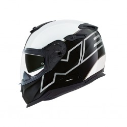 Nexx SX.100 Orion Black White Full Face Helmet