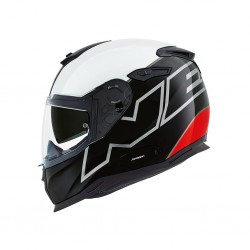 Nexx SX.100 Orion Black White Red Full Face Helmet