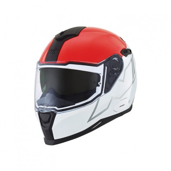Nexx SX.100 Orion White Red Grey Full Face Helmet