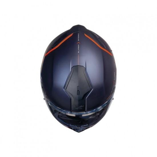 Nexx SX.100 Superspeed Navy Blue Red Matt Full Face Helmet