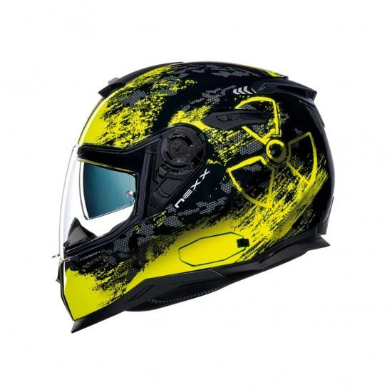 Nexx SX.100 Toxic Black Neon Yellow Matt Full Face Helmet