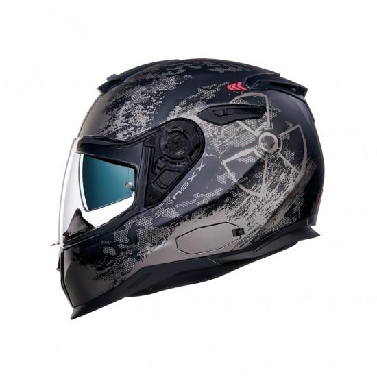 Nexx SX.100 Toxic Black Pink Matt Full Face Helmet