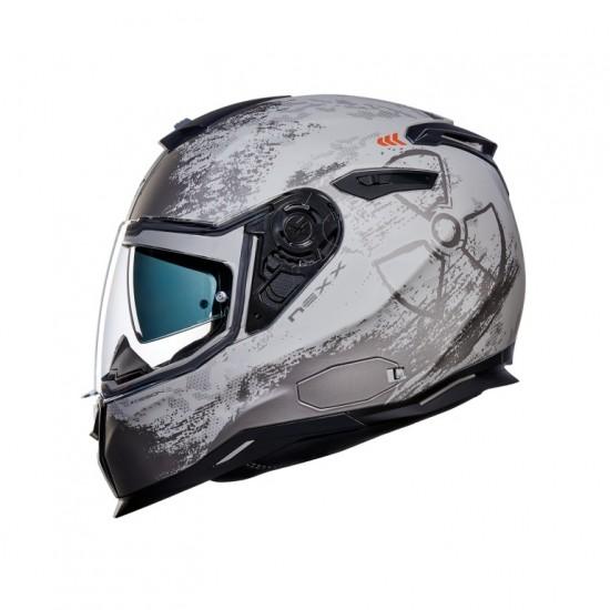 Nexx SX.100 Toxic Light Concrete Matt Full Face Helmet