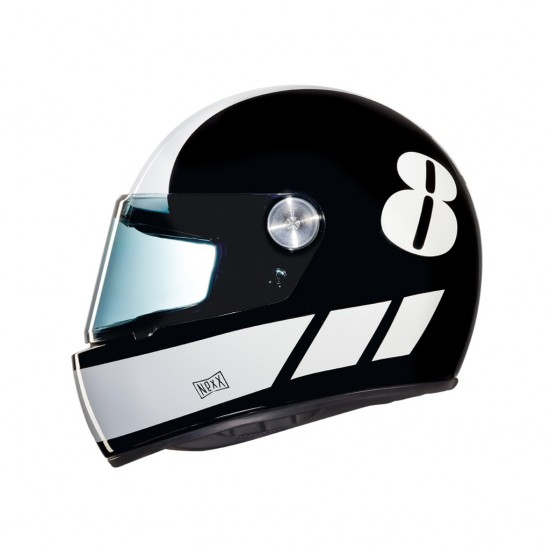 Nexx X.G100R Billy B Black White Full Face Helmet
