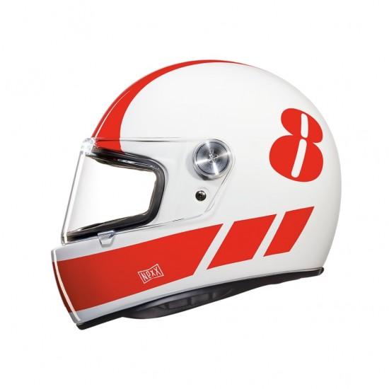 Nexx X.G100R Billy B White Red Full Face Helmet