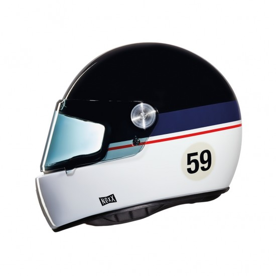 Nexx X.G100R Grand Win Black Blue White Full Face Helmet