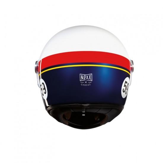 Nexx X.G100R Grand Win White Red Blue Full Face Helmet