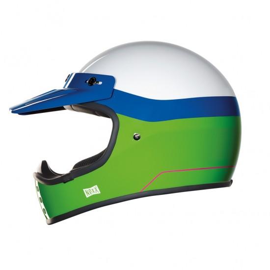 Nexx X.G200 Dirt Fever White Green Blue Off Road Helmet